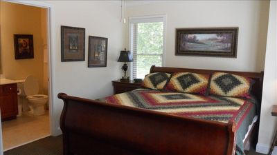 """Golf Bedroom"" King with full bath and shower on 3rd floor. Overlooking Helen"