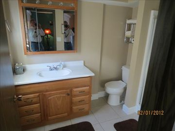 Completely remodeled master bath including shower