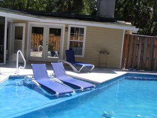 Forest Beach house photo - Kids' wading Adults' lounging area of pool