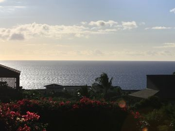 Looking south from the lanai at the expanse of the Pacific.