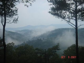 Ellijay cabin photo - Morning coffee with this view