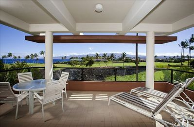 Our lanai is a great space for relaxing and enjoying the views.