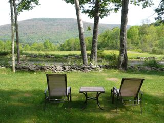 Belleayre Mountain house photo - Front yard and deck mountain view or watch shooting stars