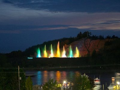 Grand Haven condo rental - Balcony view of the Musical Fountain