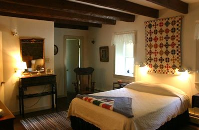 Upstairs bedroom on the Stone House