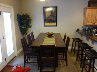 Snowbasin townhome photo - 8' Dining Table & Bar giving you plenty of seating.
