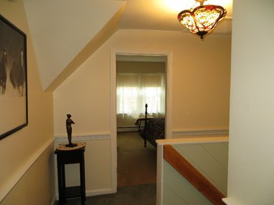 North Conway house rental - Upstairs hallway outside mustartd room