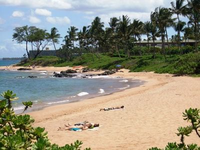 Mokapu and Elua Beaches a short walk from Wailea Ekolu