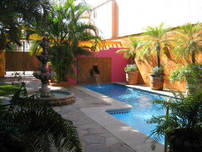 Sayulita house rental - Front Entry to Private Gated Court Yard, which opens into a truly magical space