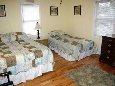 Bedroom #2--Queen-sized bed and twin bed