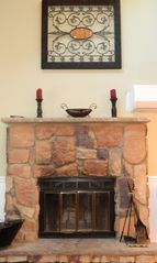 Albrightsville house photo - Fireplace on main level (2nd Flr)