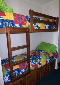 Fun bunk beds for the smaller kids!