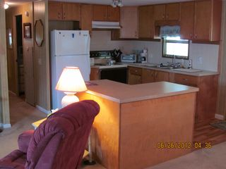 New Port Richey mobile home photo - View of Kitchen from Living Room and Dining Room