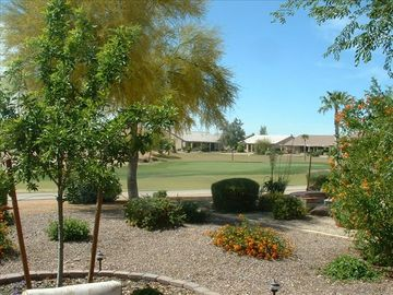 Sun Lakes house rental - View of 4th green from Patio