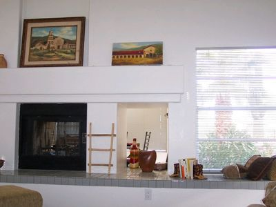 Fireplace and Living Room