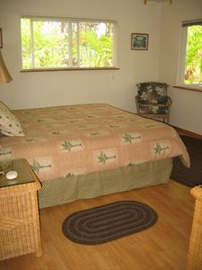 Your large Master bedroom looks out to a large lanai, one of two in Hale PaMa