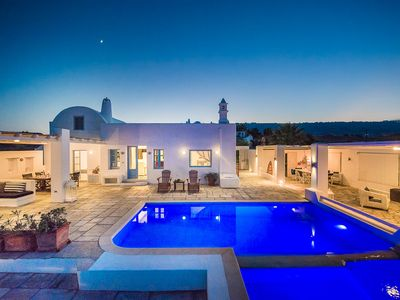 Stunning Architecture + Magnificent Views of Aegean Sea with Outdoor Areas + Pool