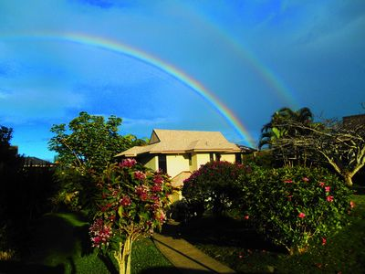 Hanalei Bay Villa 23  with rainbow