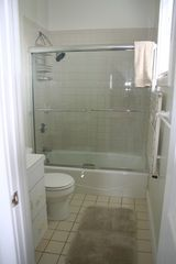 Newport house photo - Master bath with shower/tub