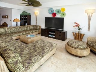 Cupecoy condo photo - Sitting area with large TV
