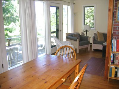 West Tisbury house rental - Dining/ Living area