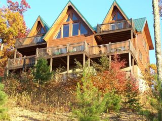 Sevierville chalet photo - Fall at the cabin taken by guest October 2012