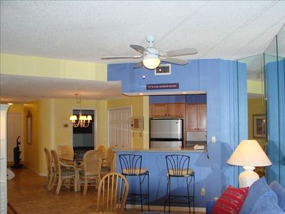 Indian Shores condo rental - from living room into kitchen
