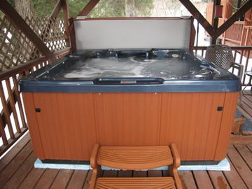 Covered Hot Tub on the Deck
