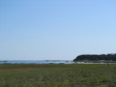 Chatham Harbor from beach path