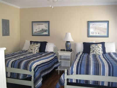 2 Double Beds ~ up to 4 guests / kids can sleep here in this nautical based room
