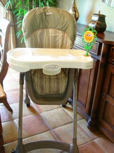 Adjustable Baby High Chair with locking wheels!