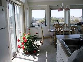 North Truro house photo - Top level kitchen, diningroom