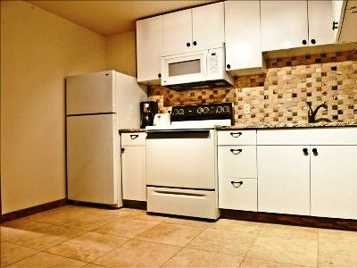 Full Kitchen, Granite Counter Tops, new cupboards & faucet with coffee maker