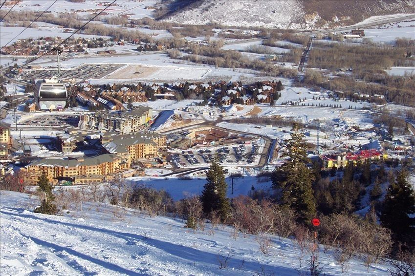 View of Canyons Village and Red Pine