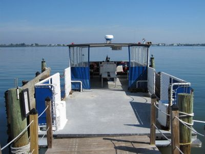 Our Ferry which takes you free of charge back and forth to the main land.
