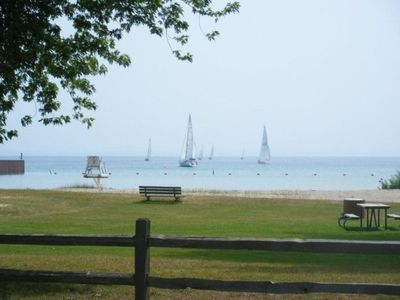 VIEW OF THE BEACH ACROSS THE ROAD