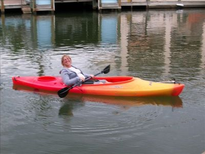 Enjoy Kayaking from your Private Dock