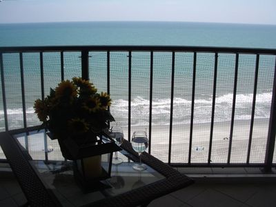 Check out the incredible view from this condo--it's direct ocean front.