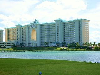 Back view overlooking the pond - Majestic Sun condo vacation rental photo