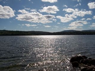 Newfound Lake cottage photo - Sunny day looking over towards Mayhew Island