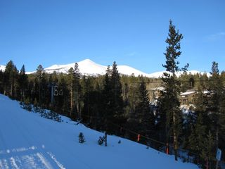 Breckenridge Peak 9 townhome photo - Views of Mountains - Snowflake Trail - Lift from Patio