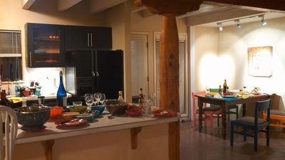 View of our colorful kitchen/dining area