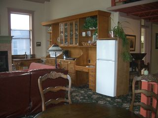 Saugatuck / Douglas apartment photo - Great room with new fridge.