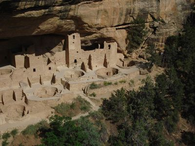 The amazing Cliff Palace, Mesa Verde's largest and most spectacular ruin nearby.