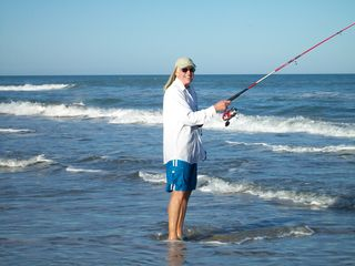 South Padre Island condo photo - Fishing just outside the front gate.