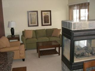 Copper Mountain condo photo - Relaxing Living Room w/ Gas Fireplace & TV/DVD