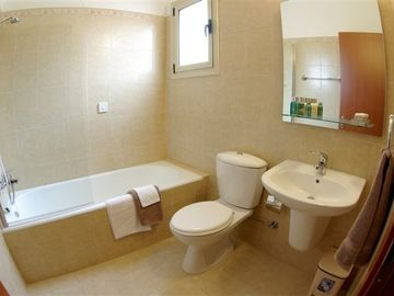 One of two ensuite bathrooms