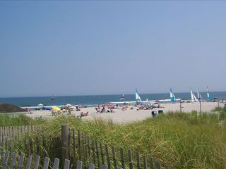 Stone Harbor property rental photo - Open, Wide, Clean Beach, Sand Dunes, Wild Grass, ocean 2 Blocks 3 houses Away
