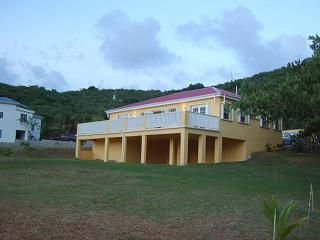 St. Croix house photo - This is an evening photo taken as you approach the house from the road.