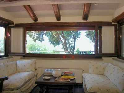 Ansedonia villa rental - Sitting room